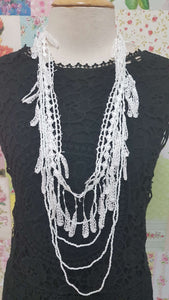 White Necklace JU0187