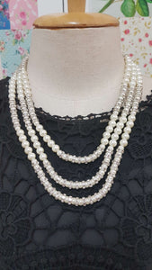 Pearl & Diamond Necklace JU0164