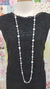 Clear Beads Necklace JU0190