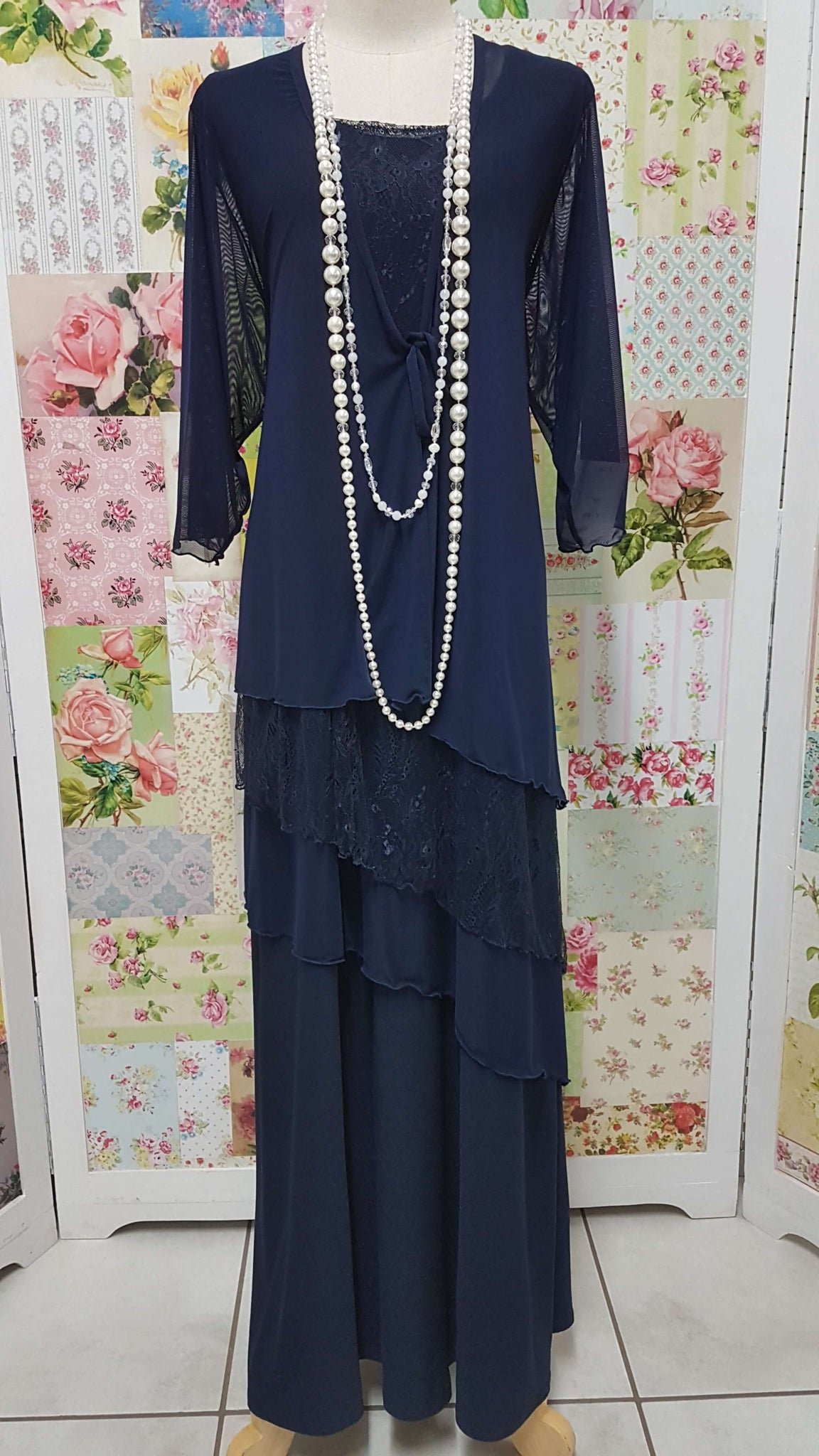 Navy 4-Piece Dress Set MD0105