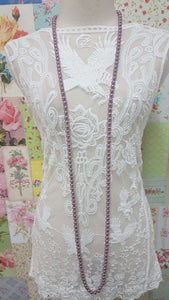 Mauve Necklace JU0207