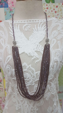 Purple Crystal Necklace JU0215