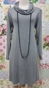 Grey Cowl Neck Top MD0136