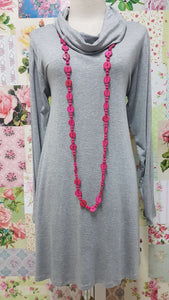 Light Grey Cowl Neck Top MD0126