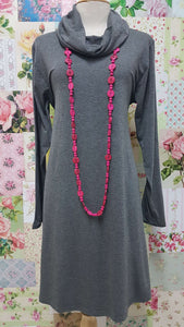 Charcoal Grey Cowl Neck Top MD093
