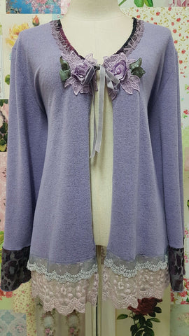 Lavender Knitted Top ML0220