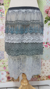 Dove Grey Lace Skirt Extension SZ024