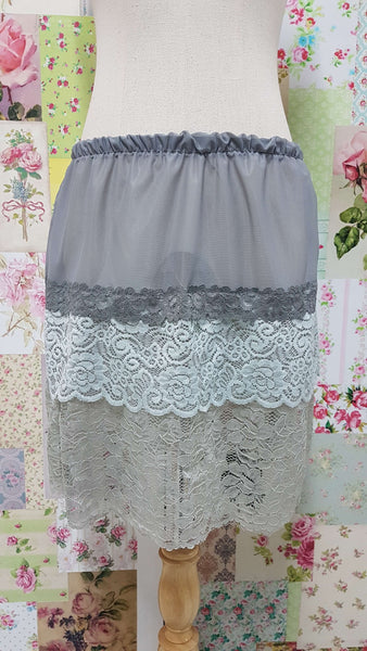 Grey Lace 2-Piece Top  SZ013