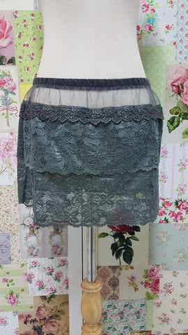 Charcoal Grey Lace Skirt SZ021