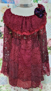 Maroon Lace Top GD0187