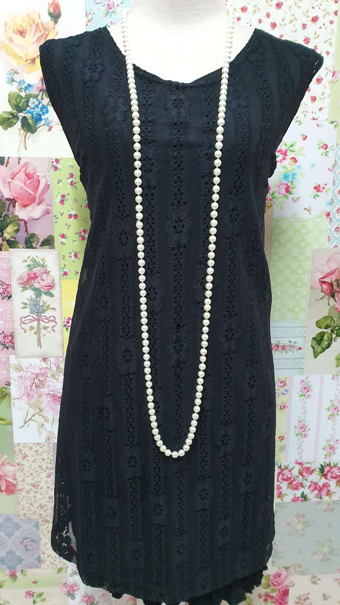 Cream Pearl Beads Necklace JU0220