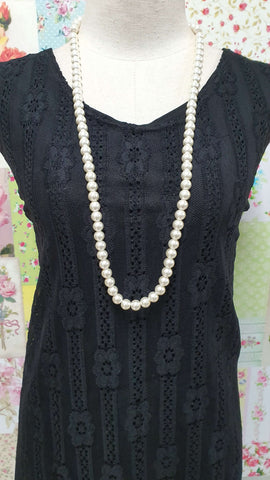 Cream Pearl Beads Necklace JU0219