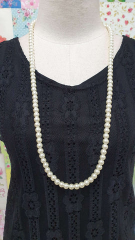 Cream Pearl Beads Necklace JU0218