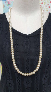 Champagne Pearl Beads Necklace JU0221