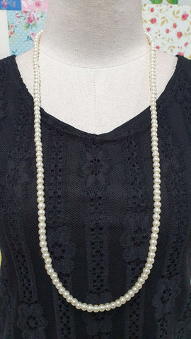 Cream Pearl Beads Necklace JU0217