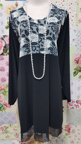 Black & Grey Top LR0445