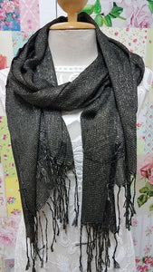 Black & Gold Scarf SE0246