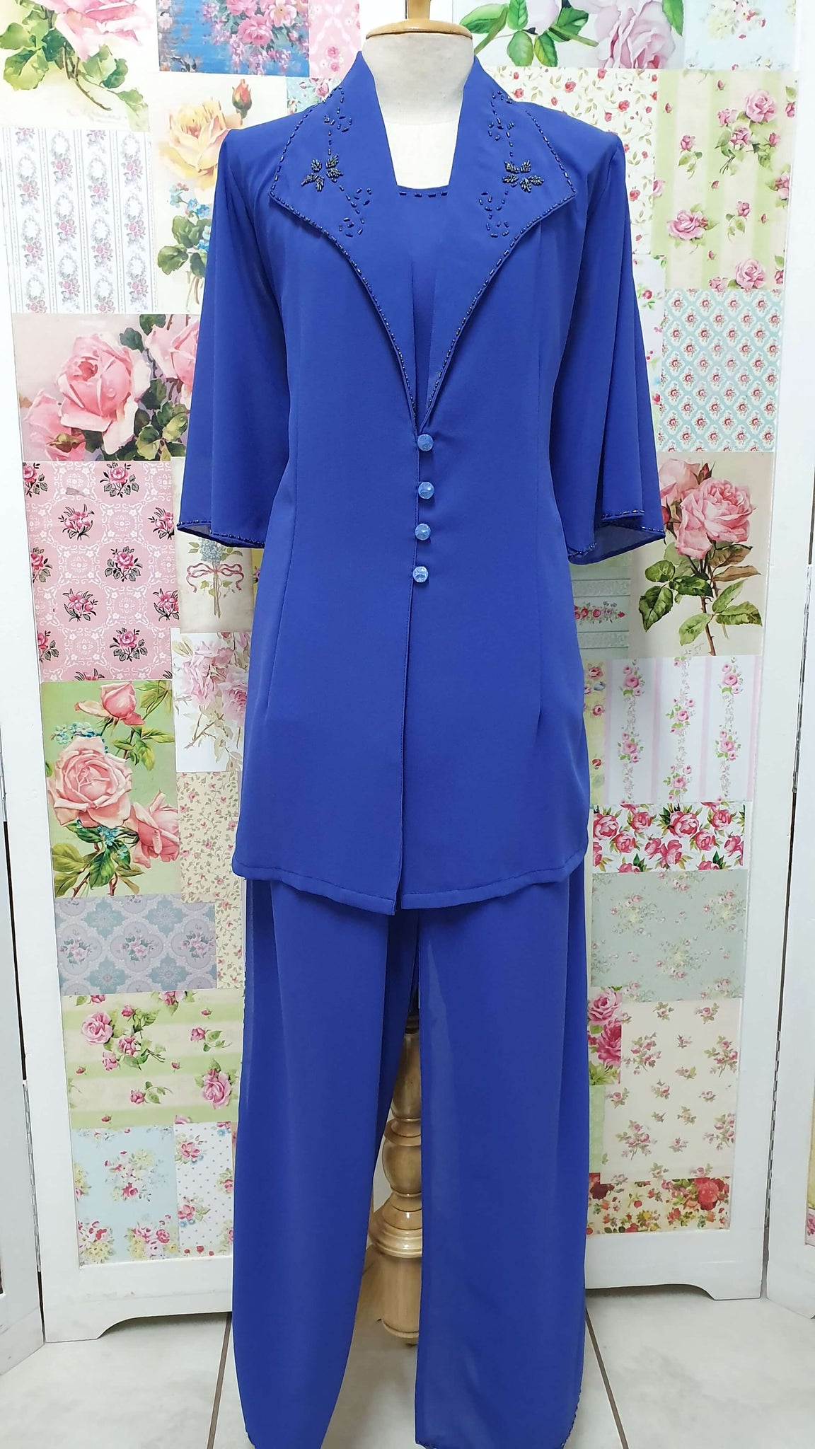 Royal Blue 3-Piece Pants Set BK0418