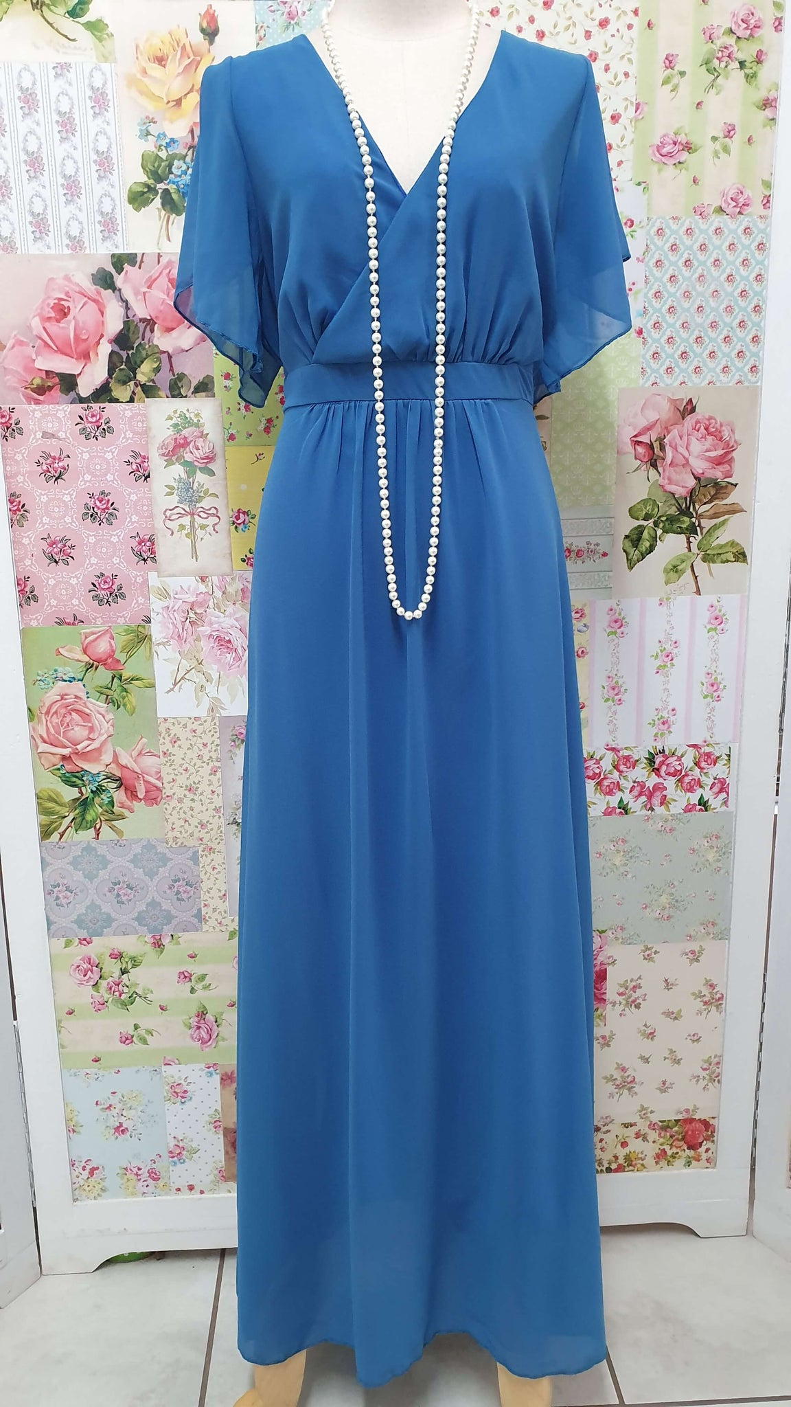 Petrol Blue Dress MB0114