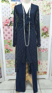 Navy Blue 2-Piece Pants Set MB0137