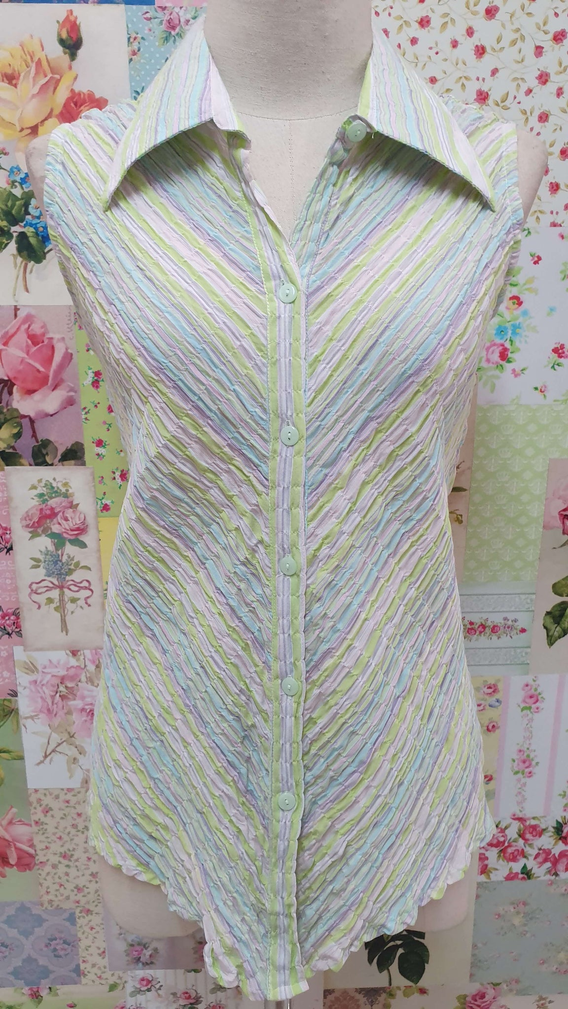 Lime Stripe Blouse BK0420