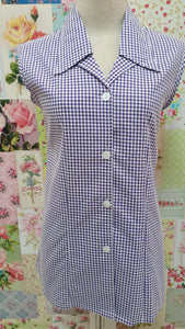 Purple Check Blouse BT0181