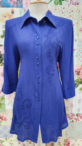 Royal Blue Blouse YD048
