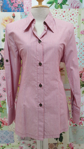 Red Striped Blouse YD047