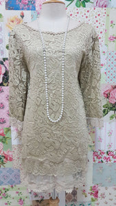 Stone 2-Piece Lace Top SZ029