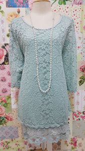 Duck Egg 2-Piece Lace Top SZ032