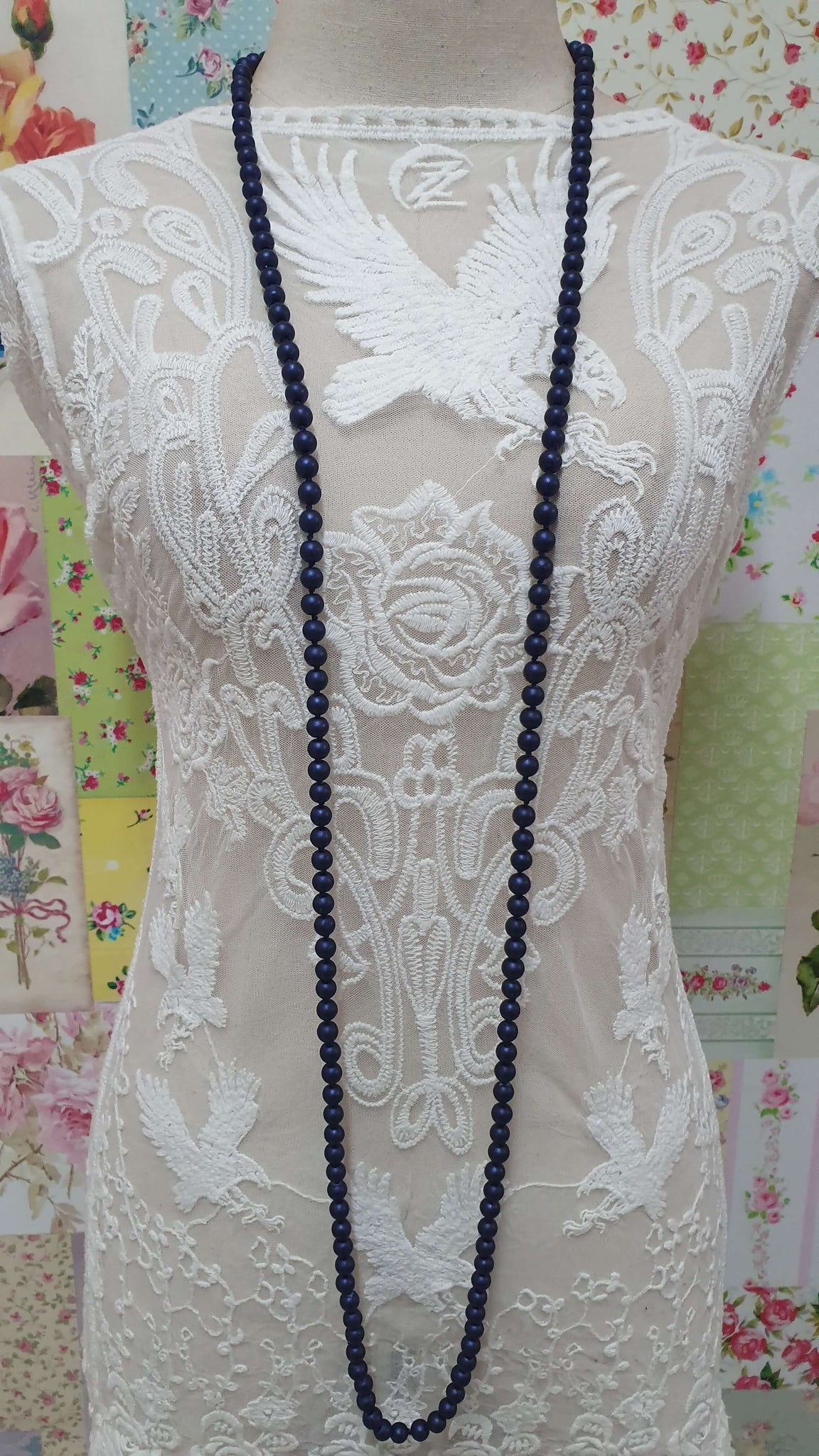 Navy Blue Necklace JU0240