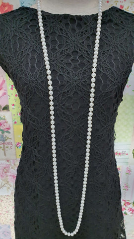 White Beads Necklace JU0253