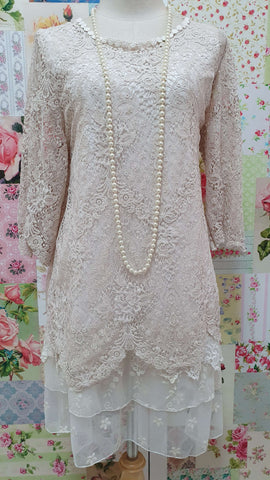Stone Lace 2-Piece Top SZ041