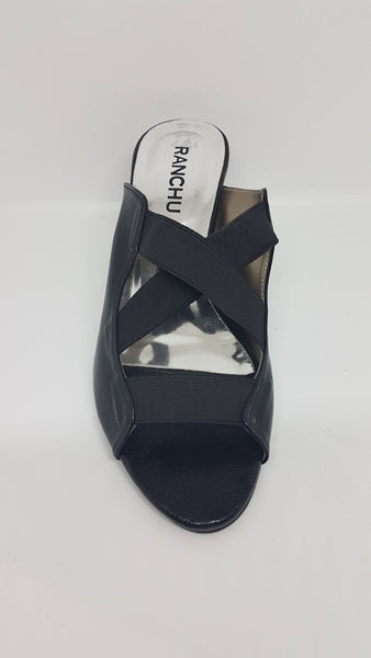 Black Slip On Sandal SK016
