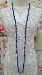 Blue Pearl Beads Necklace JU006