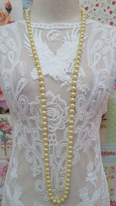 Soft Yellow Pearl Beads Necklace JU013