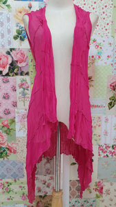 Cerise Pink Waterfall Top RS0106
