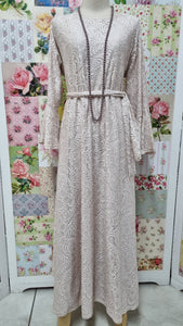 Blush Pink Lace Dress LB002