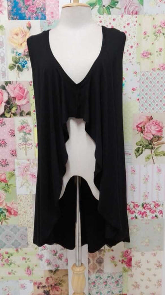 Black Sleeveless Top JS096