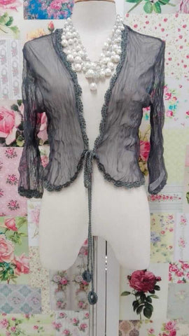 Grey Bolero Top VB073