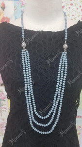 Grey Crystal Necklace JU032