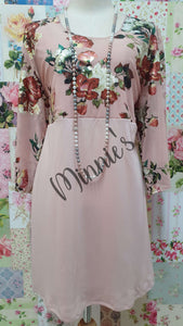 Blush Pink Printed Top MB0188