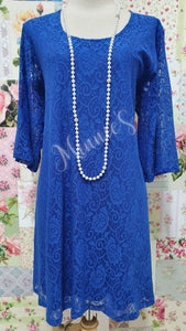 Royal Blue Lace Top MB0173
