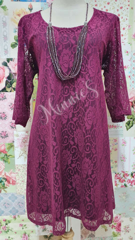 Berry Lace Top MB0172