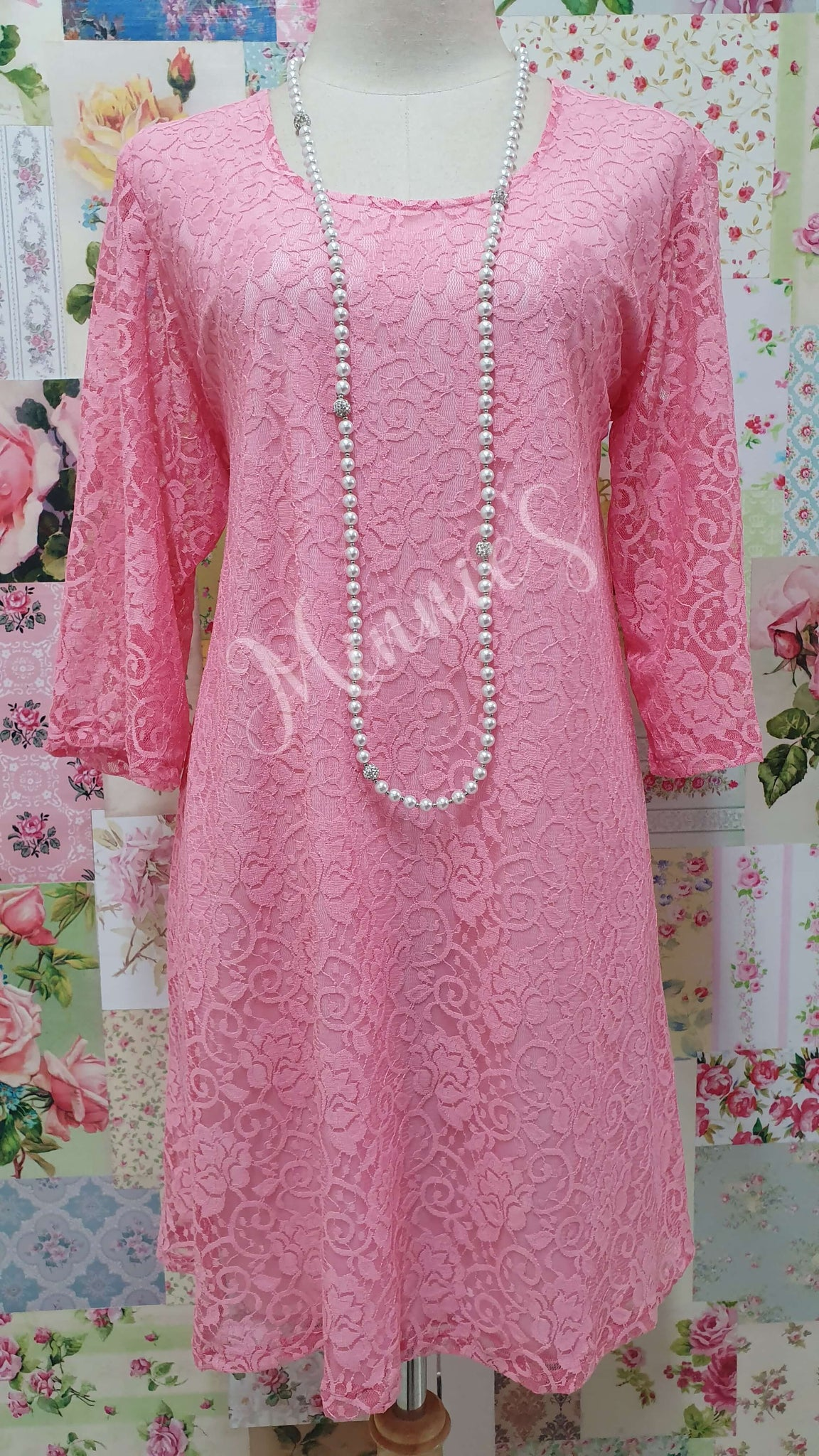Pink Lace Top MB0171