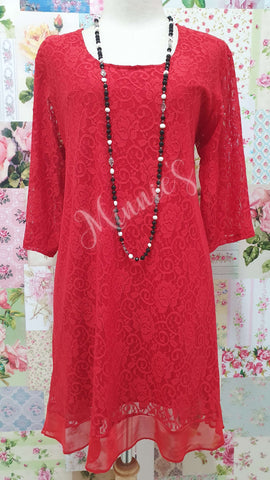 Red Lace Top MB0170