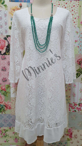 White Lace Top MB0169