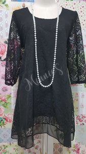 Black Lace Top MB0159