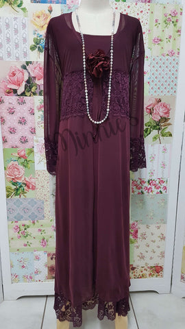 Burgundy 3-Piece Dress Set MB079