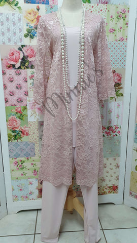 Blush Pink 3-Piece Pants Set MB0111